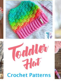 toddler hat crochet patterns- winter hat crochet pattern- amorecraftylife.com #crochet #crochetpattern #diy