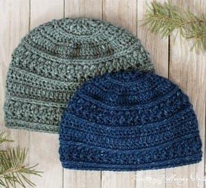 free mens crochet hat pattern - winter hat - beanie crochet pattern - amorecraftylife.com #hat #crochet #crochetpattern