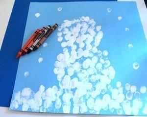 fingerprint snowman kid craft - winter kid craft- winter preschool craft -kingergarten - toddler - amorecraftylife.com #kidscraft #craftsforkids #winter #preschool