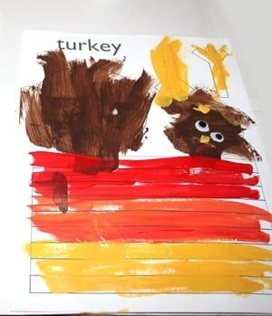 fingerprint turkey kid craft - fall kid craft - thanksgiving kid craft - amorecraftylife.com #kidscraft #craftsforkids #preschool