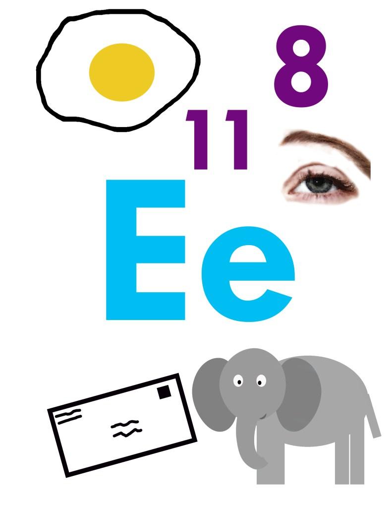 printable Crafts for Letter E – Activities Recipes More- Preschool kid craft - alphabet math reading -alphabet resources amorecraftylife.com #preschool #craftsforkids #kidscrafts