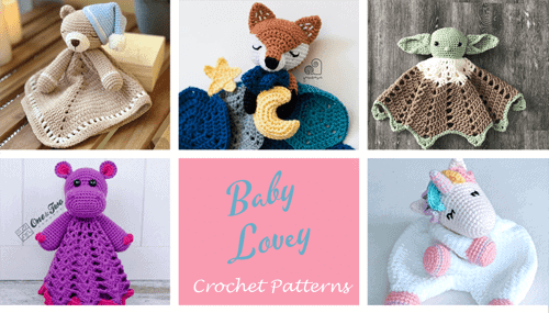 Crochet Lovey Patterns - security blanket crochet pattern - baby lovey crochet pattern- baby crochet pattern pdf - amigurumi amorecraftylife.com #crochet #crochetpattern #baby