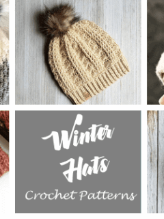 winter Crochet hat patterns - crochet pattern pdf - amorecraftylife.com #crochet #crochetpattern