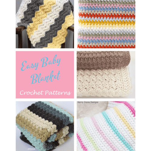 11 Easy Crochet Baby Blanket Patterns A More Crafty Life