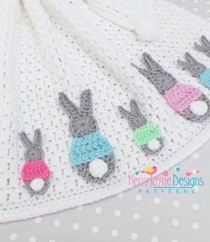 blanket crochet bunny patterns - rabbit crochet pattern - Easter pdf - amorecraftylife.com #crochet #diy