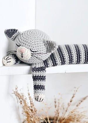 crochet cat pattern- kitty crochet pattern pdf - amigurumi amorecraftylife.com #crochet #crochetpattern