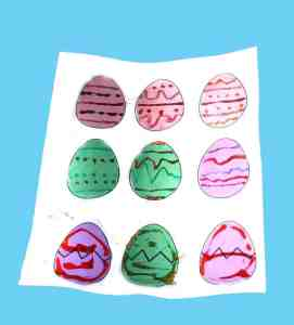 printable glitter Easter egg kid crafts - crafts for kids - spring craft for kids -amorecraftylife.com #kidscraft #craftsforkids #preschool