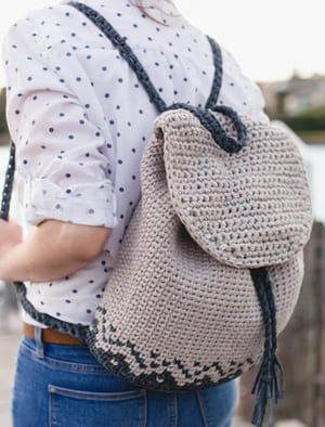 crochet backpack pattern - purse crochet pattern - handbag crochet pattern - amorecraftylife.com #bag #crochet #crochetpattern