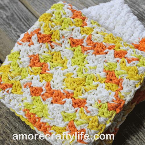 Double Crocheted DIY Dishcloths - Lia Griffith | 500x500