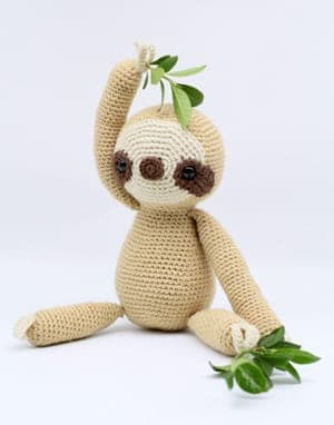 Crochet sloth Patterns - Cute Gifts - A More Crafty Life - stuffed toy sloth #crochet #crochetpattern #baby #amigurumi