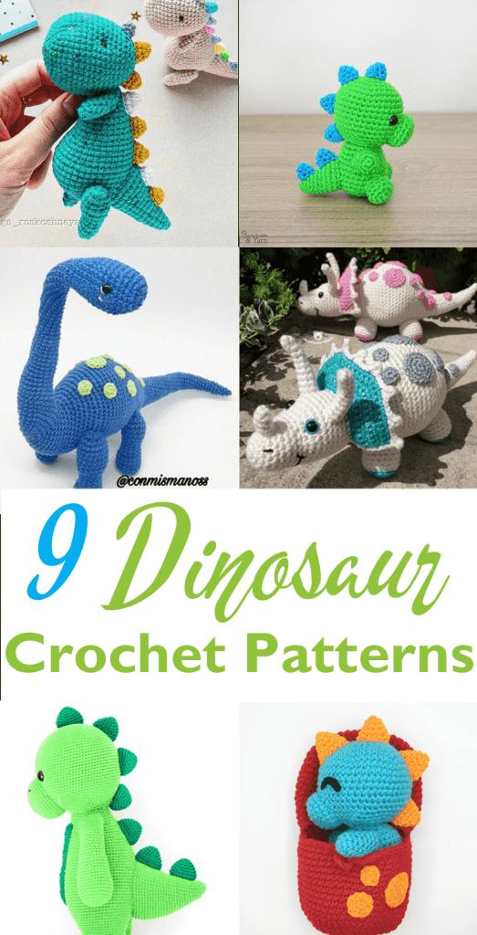 amigurumi dinosaur crochet pattern - crochet pattern pdf - amorecraftylife.com #crochet #crochetpattern #amigurumi