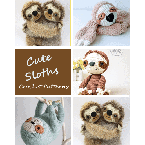 Amigurumi sloth crochet pattern - Amigurumi Today | 500x500