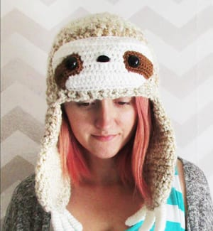 Crochet sloth Patterns - Cute Gifts - A More Crafty Life - sloth hat #crochet #crochetpattern