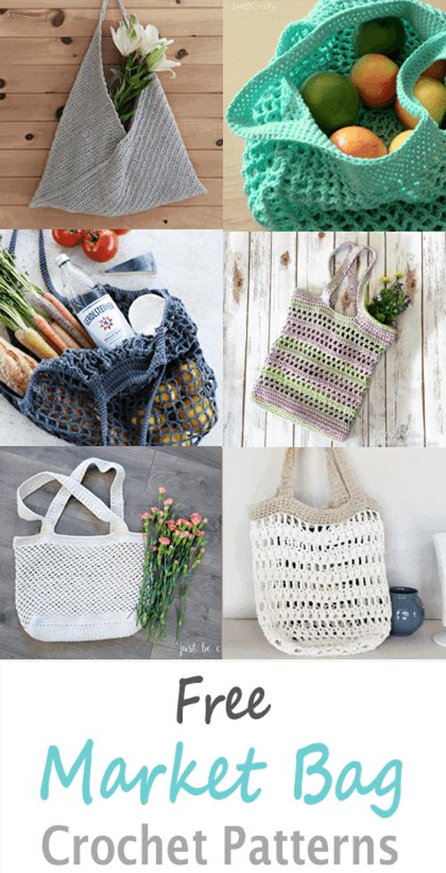 crochet market tote crochet pattern- bag crochet pattern pdf - grocery bag - beach bag - amorecraftylife.com #crochet #crochetpattern