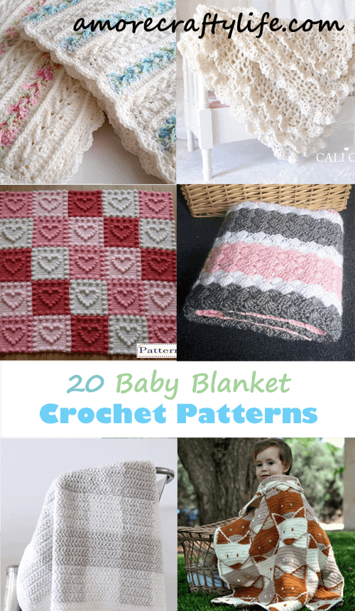 Crochet baby blanket patterns - crochet pattern pdf - baby afghan - amorecraftylife.com #baby #crochet #crochetpattern