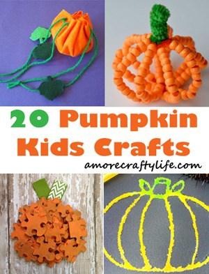 pumpkin Kid crafts - fall kid craft - amorecraftylife.com #kidscrafts #craftsforkids #preschool