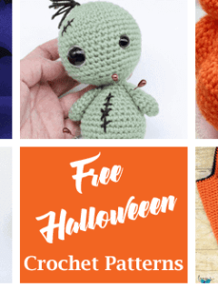free Halloween crochet patterns- fall crochet pattern- amorecraftylife.com #crochet #crochetpattern #diy #halloween
