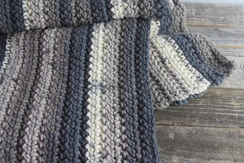herringbone chunky throw crochet patttern free 6
