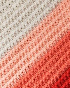 coral ombre crochet blanket free pattern- amorecraftylife.com -crocheted afghan - free printable crochet pattern - #crochet #crochetpattern #freecrochetpattern