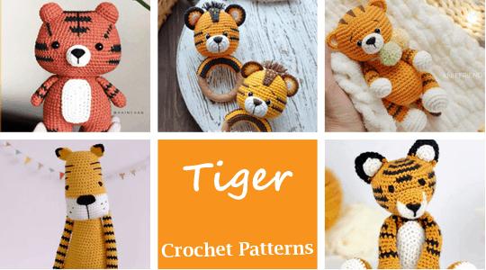 crochet tiger patterns - amigurumi crochet pattern - amorecraftylife.com #crochet #crochetpattern #diy #amigurumi