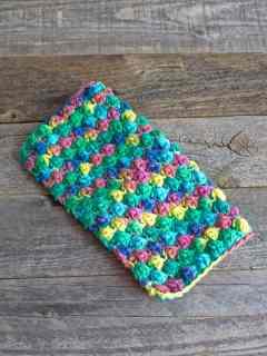 berry stitch crochet dishcloth pattern - free printable pdf - amorecraftylife.com #crochet #crochetpattern #freecrochetpattern