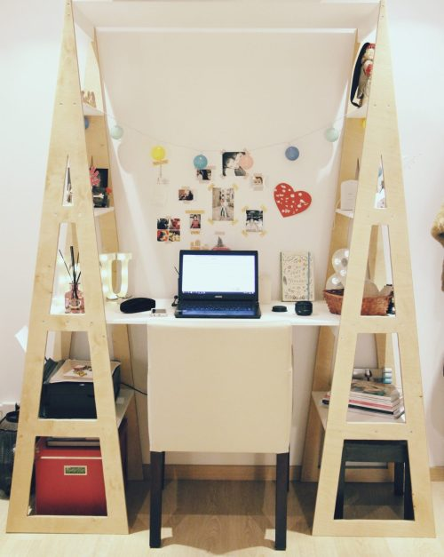 new workspace inspiration DIY shell secretary by guigz