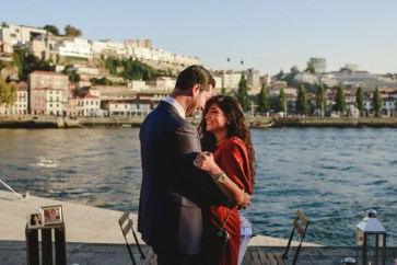 surprise wedding proposal at ribeira do porto