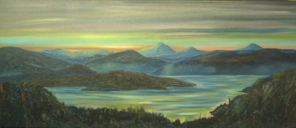 Acrylic painting fife artist