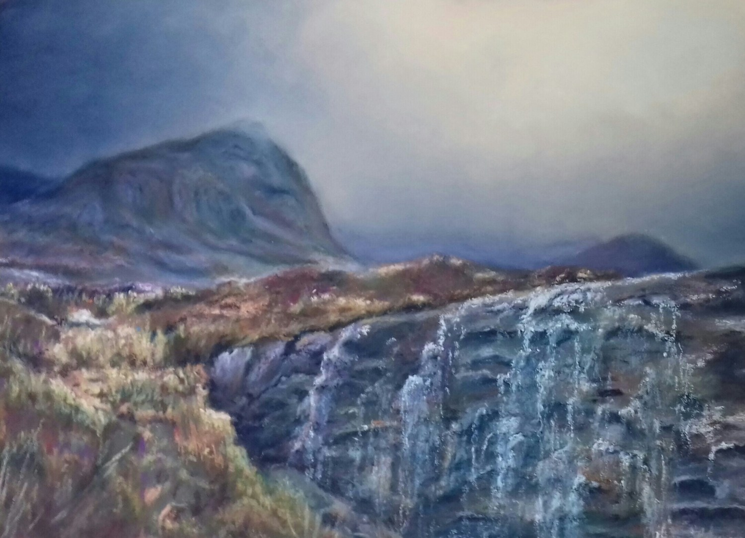 Walking in Applecross - Pastels. SOLD