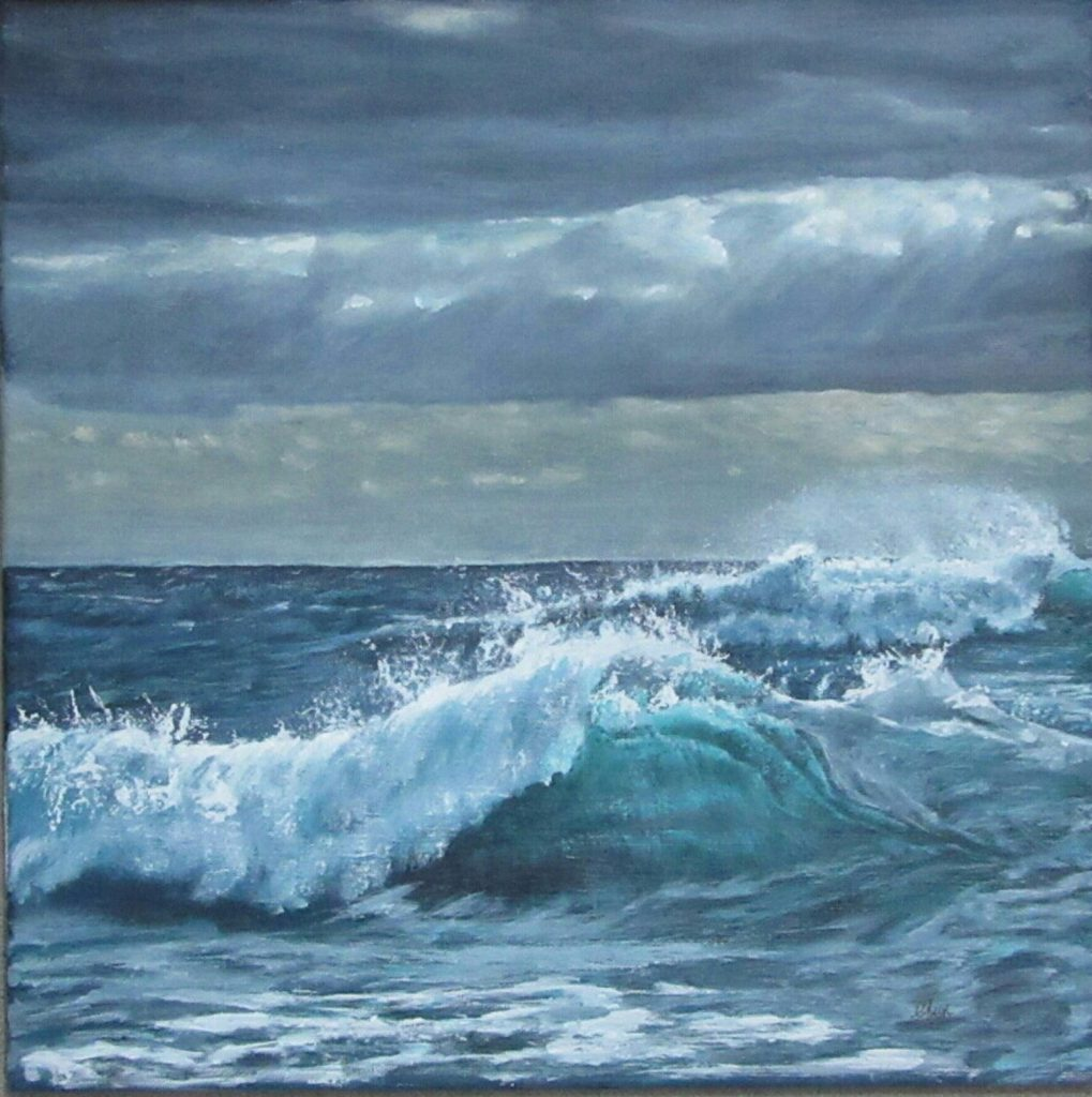 Original acrylic seascape by Christopher Amos