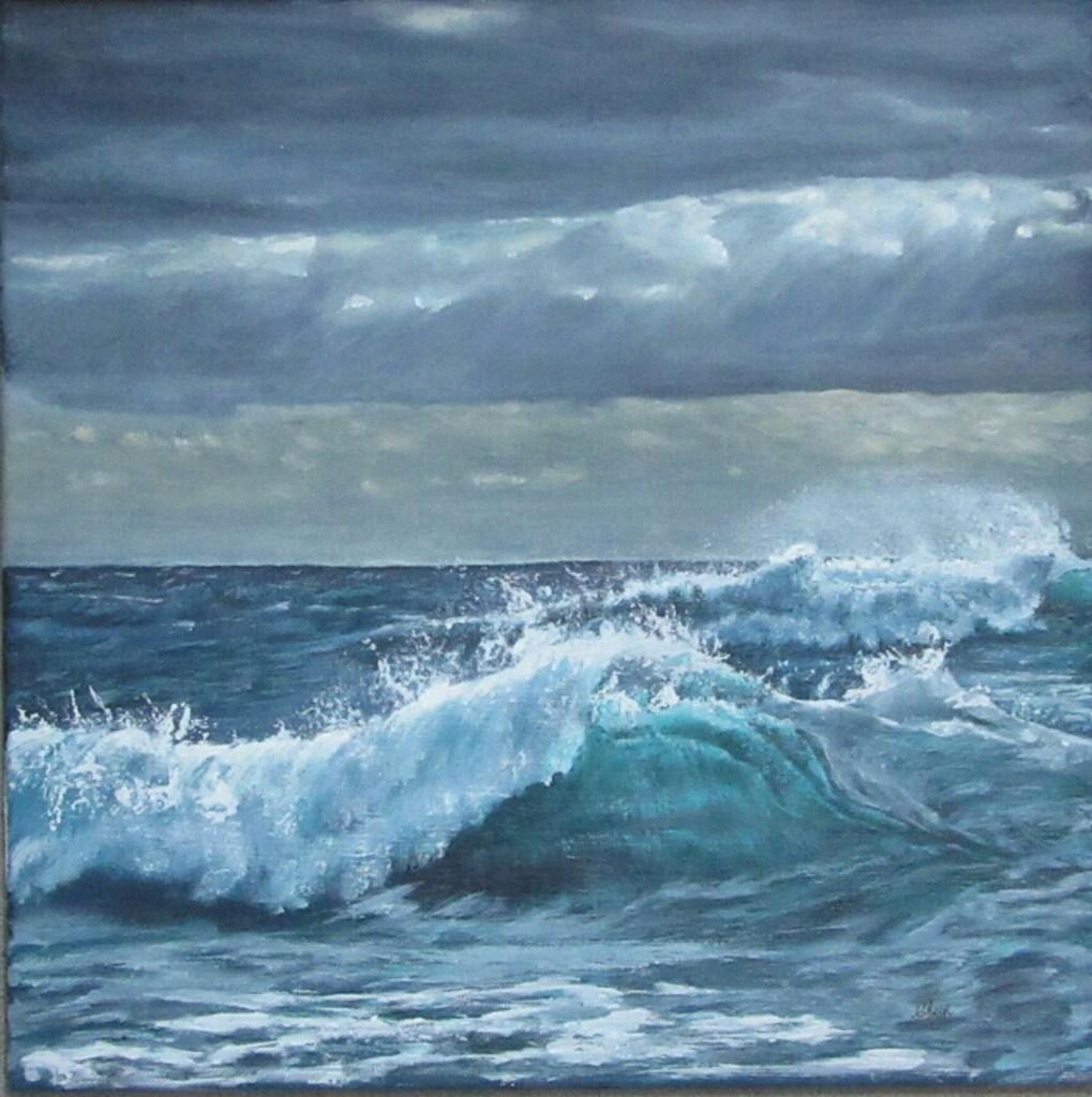 Original acrylic seascape by Christopher Amos