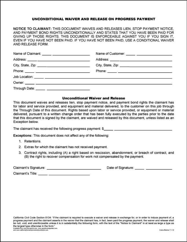 Word Amp Pdf Release Forms C M Amos Printing Co