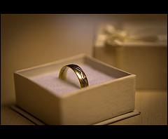 wedding ring in jewelry box