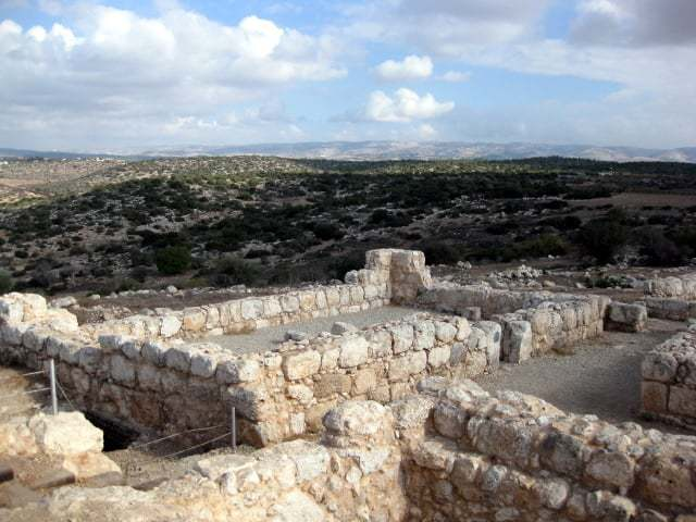 remains of Jewish town of Adulam, Second Temple period (yr. 100)