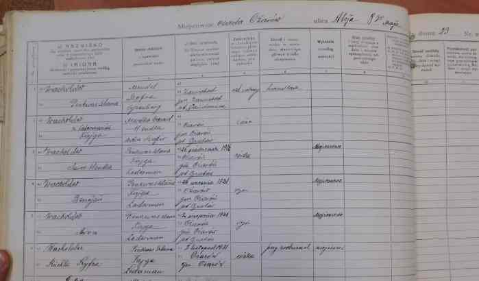 Polish birth records Wacholder