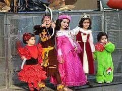 Children in fancy costumes