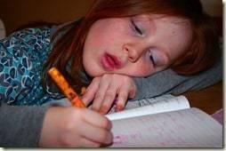falling asleep at homework