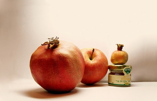pomegranate apple and honey jar