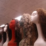 assortment of long wigs