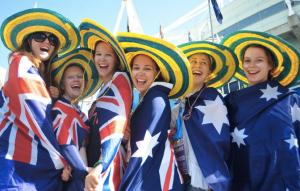 australia day partying