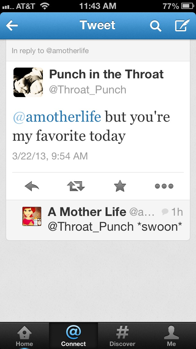 Throat punch's favourite