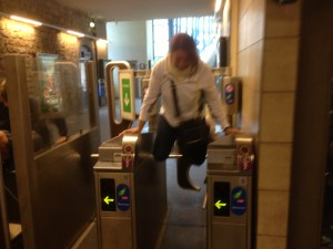jumping the turnstiles