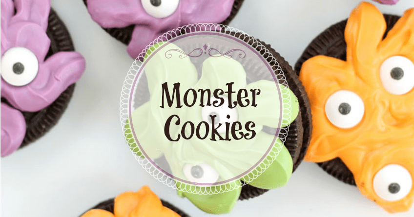Easy Halloween Fun Idea: Monster Cookies 1