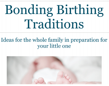 Upstate Family Doula Jenny Ervin's Bonding Birthing Traditions