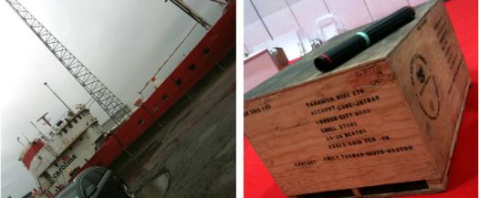 Rumfest st nicholas abbey boat and crate