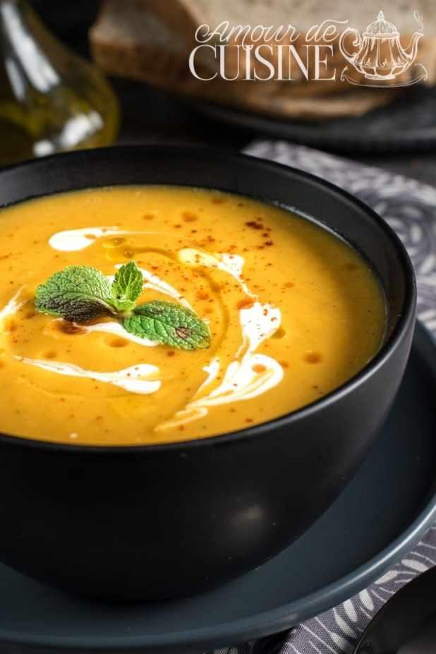 soupe veloutée de butternut - Amour de cuisine