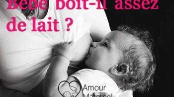 bébé boit assez de lait