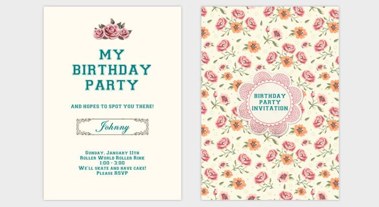 Create Birthday Invitation Card PaperInvite