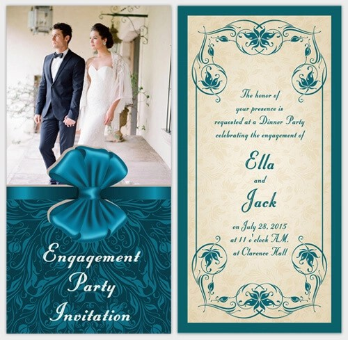 Engagement Party Ideas With Free Invitation Cards Amoyshare. Custom  Create Engagement Invitation Card Online Free