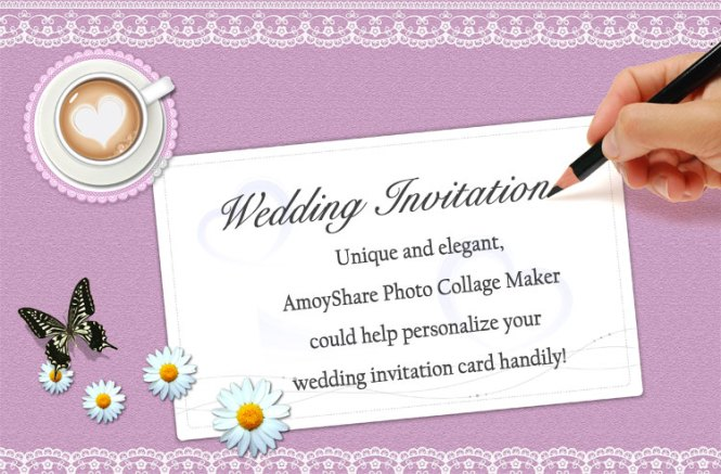 How To Create Wedding Invitation Card With Amoyshare Pcm